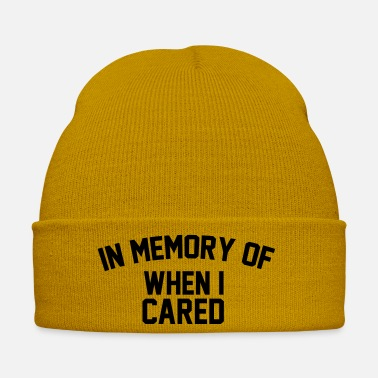 Memory In Memory Of When Cared - Winter Hat