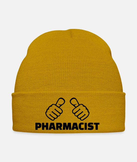 Finger Caps & Hats - Pharmacist - Winter Hat mustard yellow