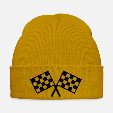 Course Automobile drapeaux - course automobile - Bonnet