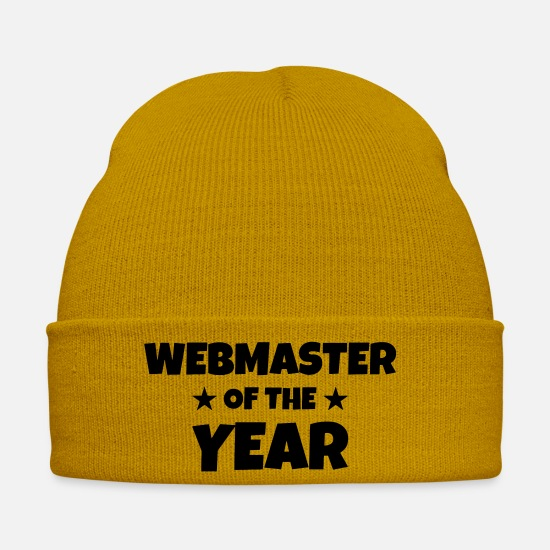 Boss Caps & Hats - Webmaster Internet Web Geek Website - Winter Hat mustard yellow