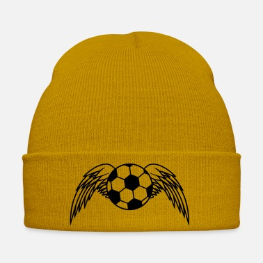 Soccer Ball Soccer Ball Angel Wings Design - Wintermütze
