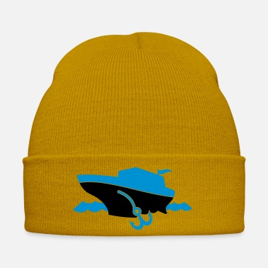 Cruise a cruise boat and anchor on the ocean waves - Winter Hat