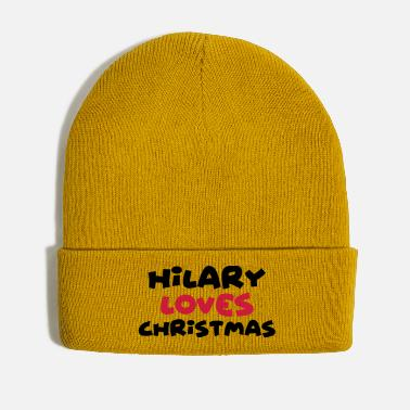 Hilarious hilary loves christmas xmas name - Winter Hat