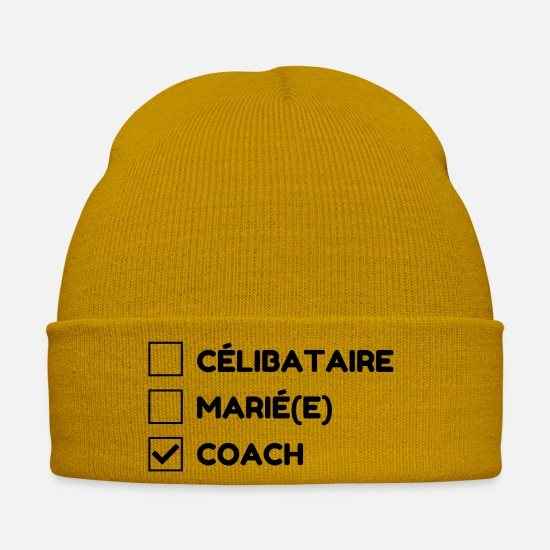 Manager Caps & Hats - Coach Coaching Trainer Sport Entraineur Team - Winter Hat mustard yellow