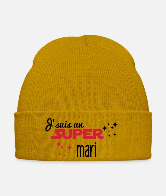 Great Caps & Hats - I'm a great husband - Winter Hat mustard yellow