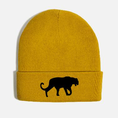 Leopard Panther Leopard Silhouette - Winter Hat
