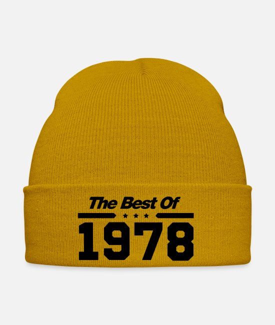 Party Caps & Hats - the_best_of_1978__f1 - Winter Hat mustard yellow