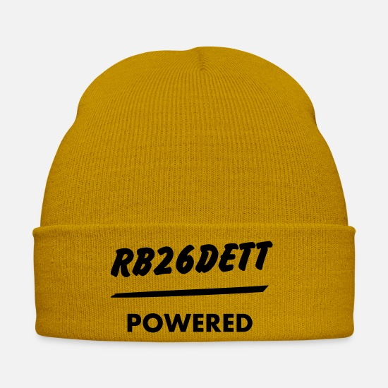 Motor Caps & Mützen - JDM Engine powered RB26DETT | T-shirts JDM - Wintermütze Senfgelb