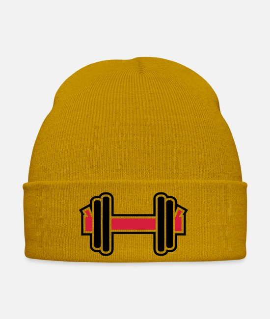 Training Caps & Hats - Dumbbell - Winter Hat mustard yellow