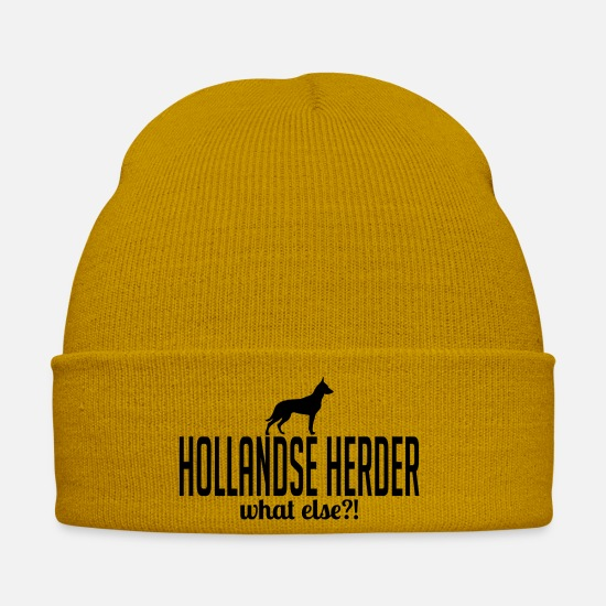 German Shepherd Caps & Hats - HOLLAND HERDER what else - Winter Hat mustard yellow