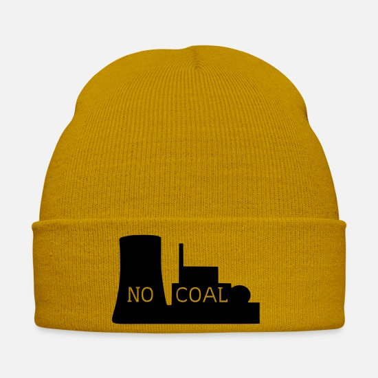 Carbon Dioxide Caps & Hats - coal-fired power station - Winter Hat mustard yellow