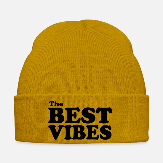Best Caps & Hats - The Best Vibes - Winter Hat mustard yellow