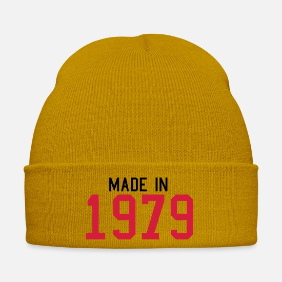 Birthday Caps & Hats - 1979 - Winter Hat mustard yellow