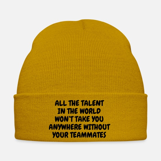 Play Caps & Hats - Volleyball - Volley Ball - Volley-Ball - Sport - Winter Hat mustard yellow