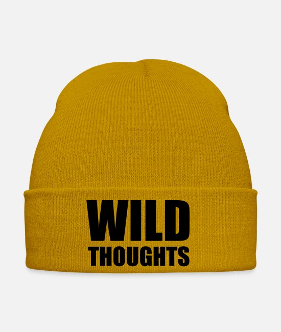 Beach Caps & Hats - Wild thoughts - Winter Hat mustard yellow