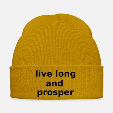 Fiction Live Long and Prosper Science Fiction Cool Slogan - Winter Hat