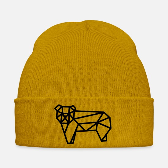 Small Caps & Hats - YOUNG BEARS - Winter Hat mustard yellow
