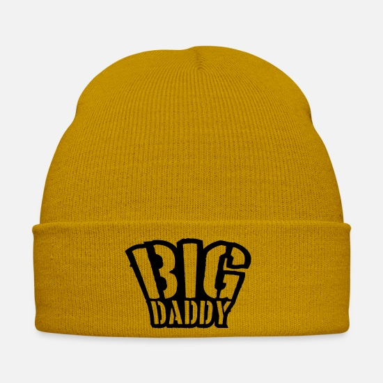 Super Caps & Hats - Stamp Big Daddy father's day Dad father hero - Winter Hat mustard yellow