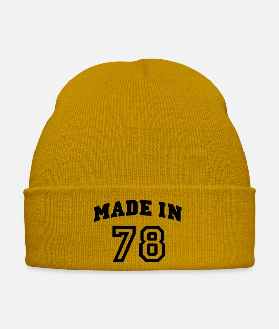Rugby Caps & Hats - mp_madein78a - Winter Hat mustard yellow