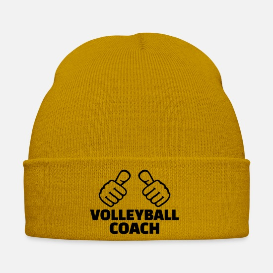 Finger Caps & Hats - Volleyball coach - Winter Hat mustard yellow