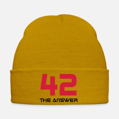 Fiction 42, the Answer Answer Galaxy Science Fiction UFO - Winter Hat