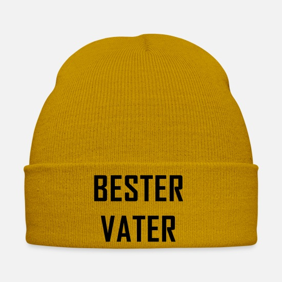 Gift Idea Caps & Hats - BEST FATHER Father's Day gift - Winter Hat mustard yellow