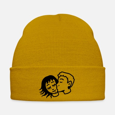 Romantic romantic kiss - line - Winter Hat