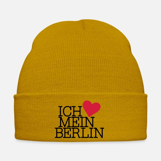 Small Caps & Hats - I love my Berlin - Winter Hat mustard yellow