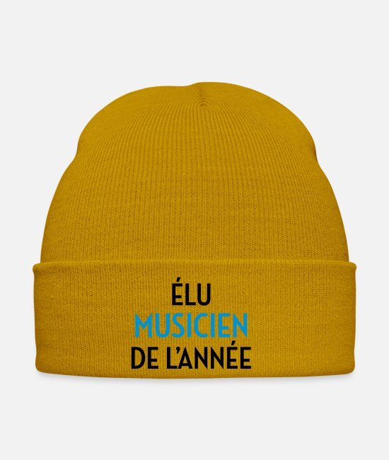 Bass Caps & Hats - Musik Musiker Music Musician Musique Musicien - Winter Hat mustard yellow