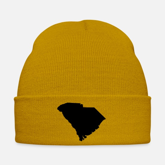 State Of South Carolina T-shirts Caps & Hats - State of South Carolina - Winter Hat mustard yellow
