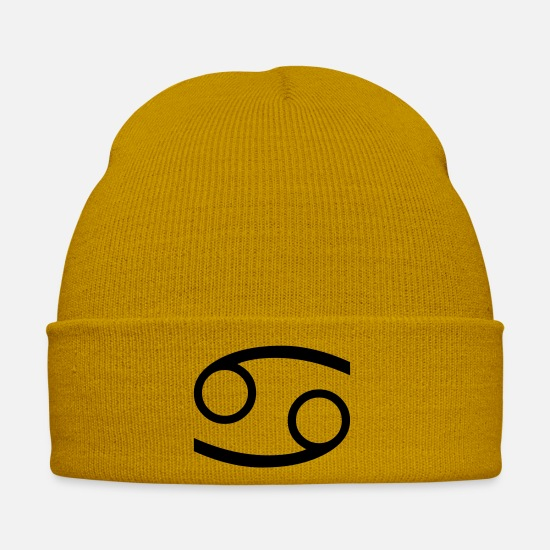 Cancer Casquettes et bonnets - cancer / cancer - Bonnet jaune moutarde
