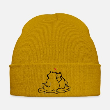 Ice Floe Two in love polar bears - Winter Hat