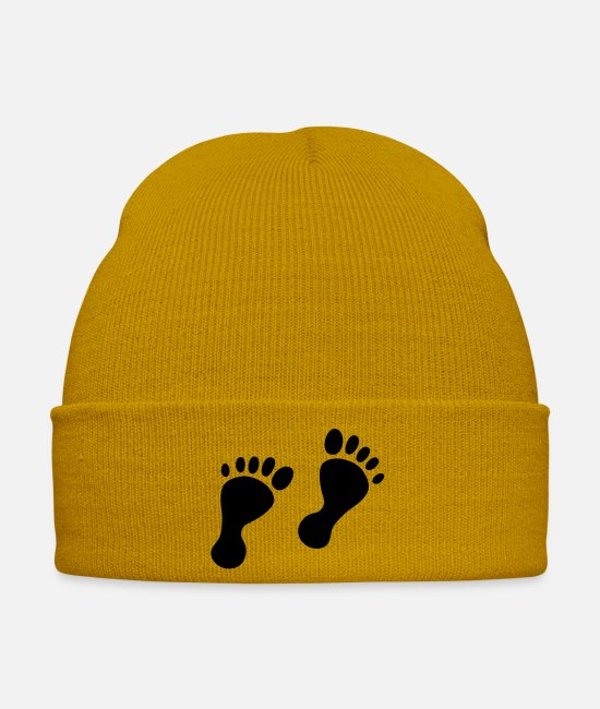Fuse Caps & Hats - baby feet - Winter Hat mustard yellow