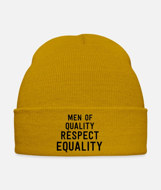 Honor Caps & Hats - Men Of Quality Respect Equality - Winter Hat mustard yellow