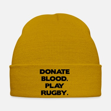 Rugby Donate Blood. Play Rugby. - Bonnet