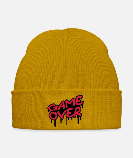 Lost Caps & Hats - Game Over - Winter Hat mustard yellow