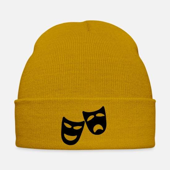 Actress Caps & Hats - Tragedy and Comedy - Winter Hat mustard yellow