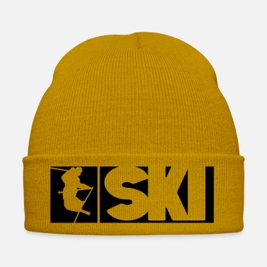Deep Snow SKI,snow, skiing, mountains, powder, deep snow, - Winter Hat