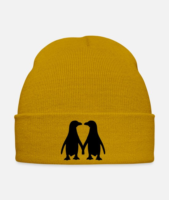 Love Caps & Hats - Penguin - Winter Hat mustard yellow