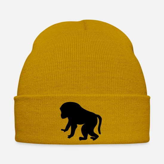 Monkey Caps & Hats - Monkey collection - Winter Hat mustard yellow
