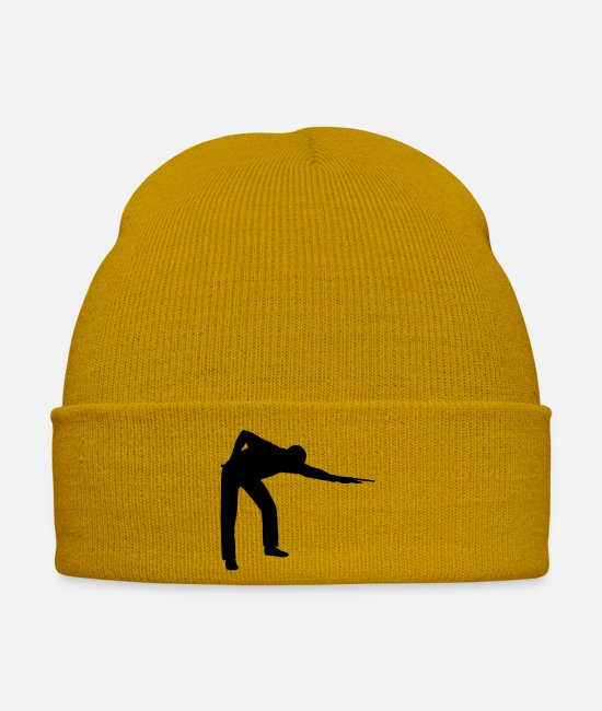 Graphic Art Caps & Hats - SNOOKER - PLAYER Icon - Winter Hat mustard yellow