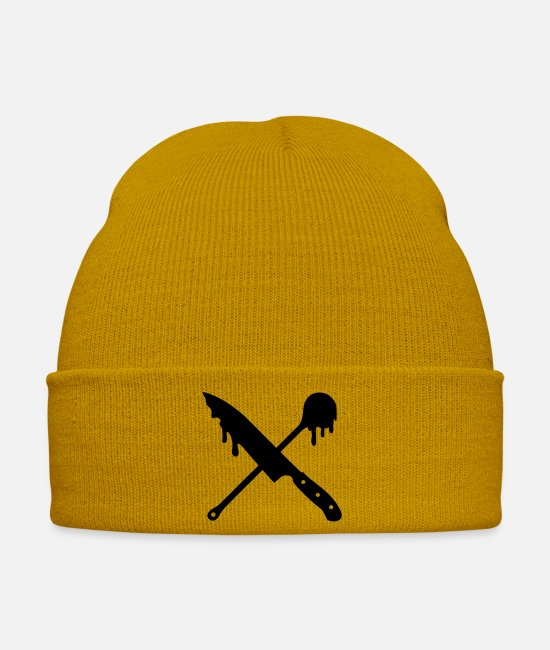 Massacre Caps & Hats - Kitchen massacre - Winter Hat mustard yellow