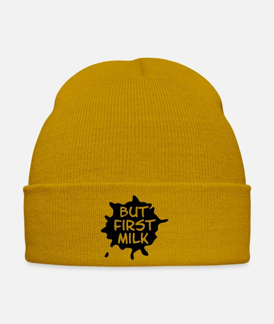 Pregnancy Caps & Hats - but_first_milk - Winter Hat mustard yellow