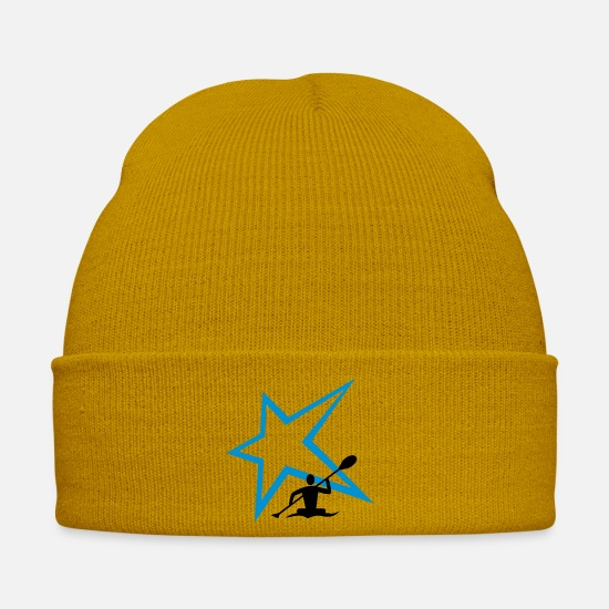 Canoe Caps & Hats - Canoe Stern - Winter Hat mustard yellow