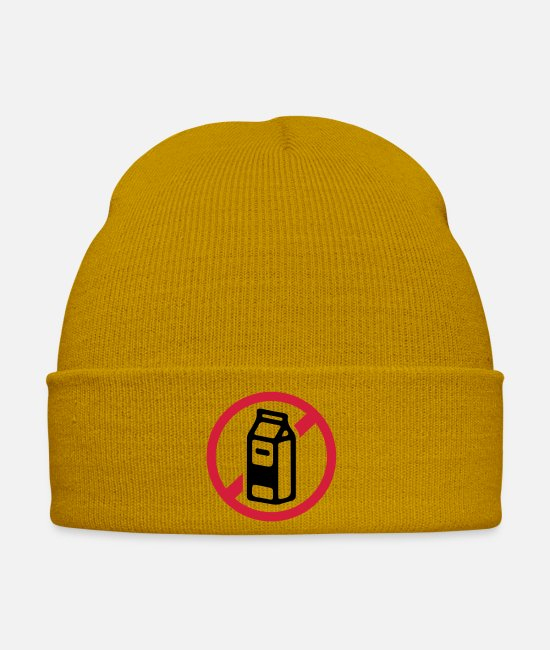 Prohibition Caps & Hats - No milk / milk products - Winter Hat mustard yellow