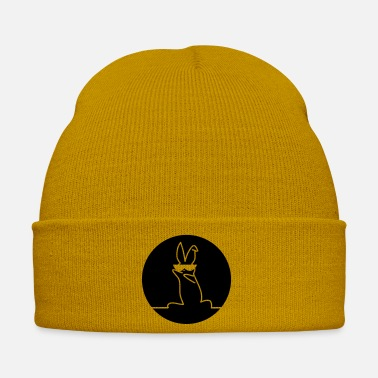 Guys Cool Bunny Print - Winter Hat