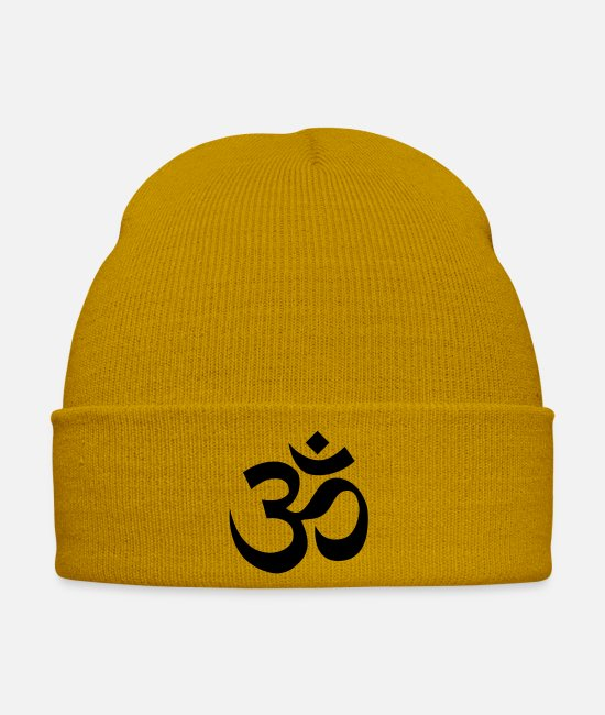 Vajrayana Caps & Hats - Om - Winter Hat mustard yellow