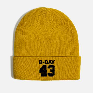 Bday Number 43 / 43rd birthday bday number number - Winter Hat