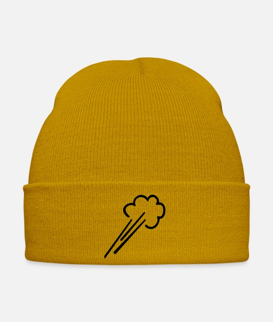 Weather Caps & Hats - Luftstrom / wind blows (1c) - Winter Hat mustard yellow