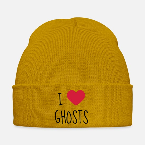 Magic Caps & Hats - Chasse aux fantômes Geisterjagd Hunting ghost - Winter Hat mustard yellow